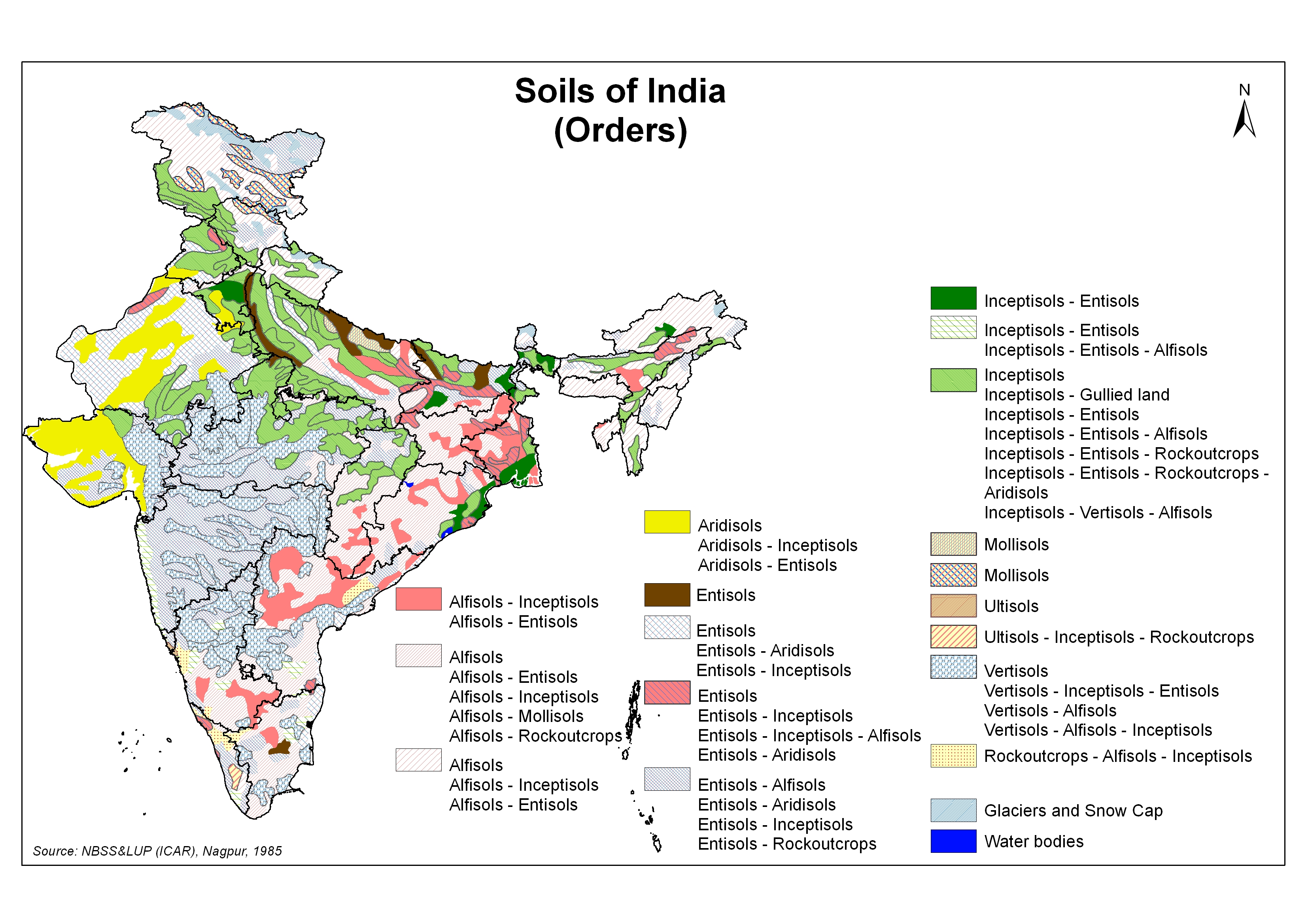 Gis map gallery for Soil in india
